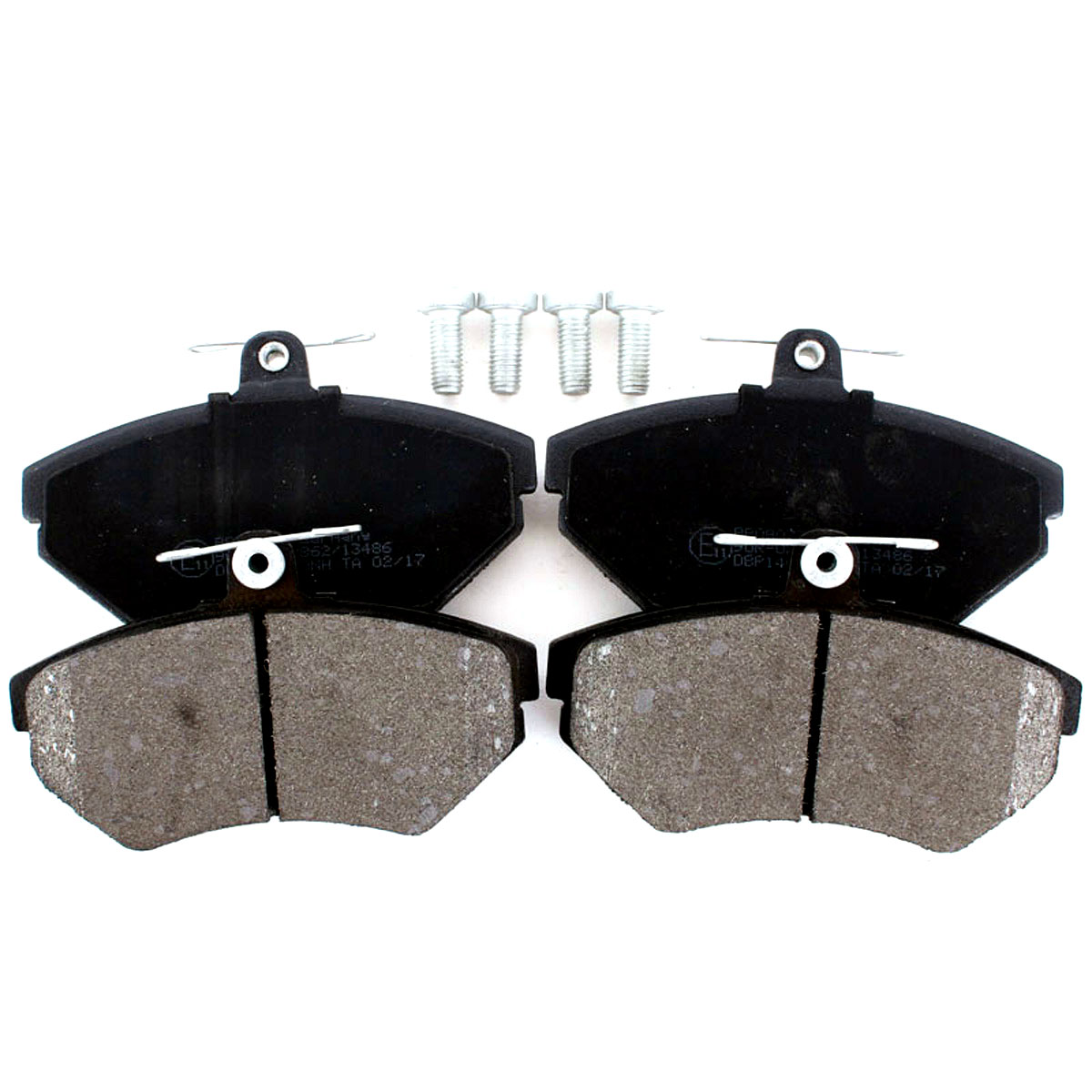 Bremsbelagsatz, Scheibenbremse, Vorderachse für Seat, VW, BB08077