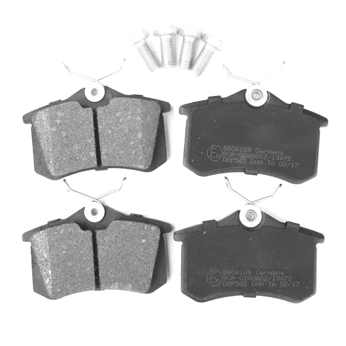 Bremsbelagsatz, Scheibenbremse, Hinterachse für Audi, Seat, Skoda, VW, BB08169