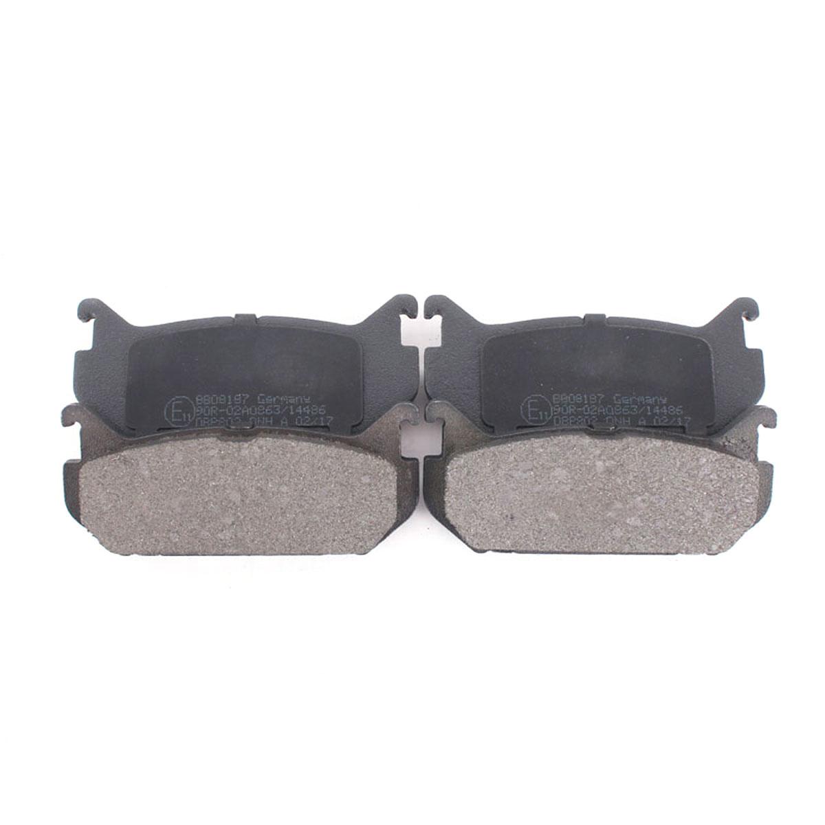 Bremsbelagsatz Scheibenbremse Hinterachse für Mazda 626 MX-6 Xedos BB08187