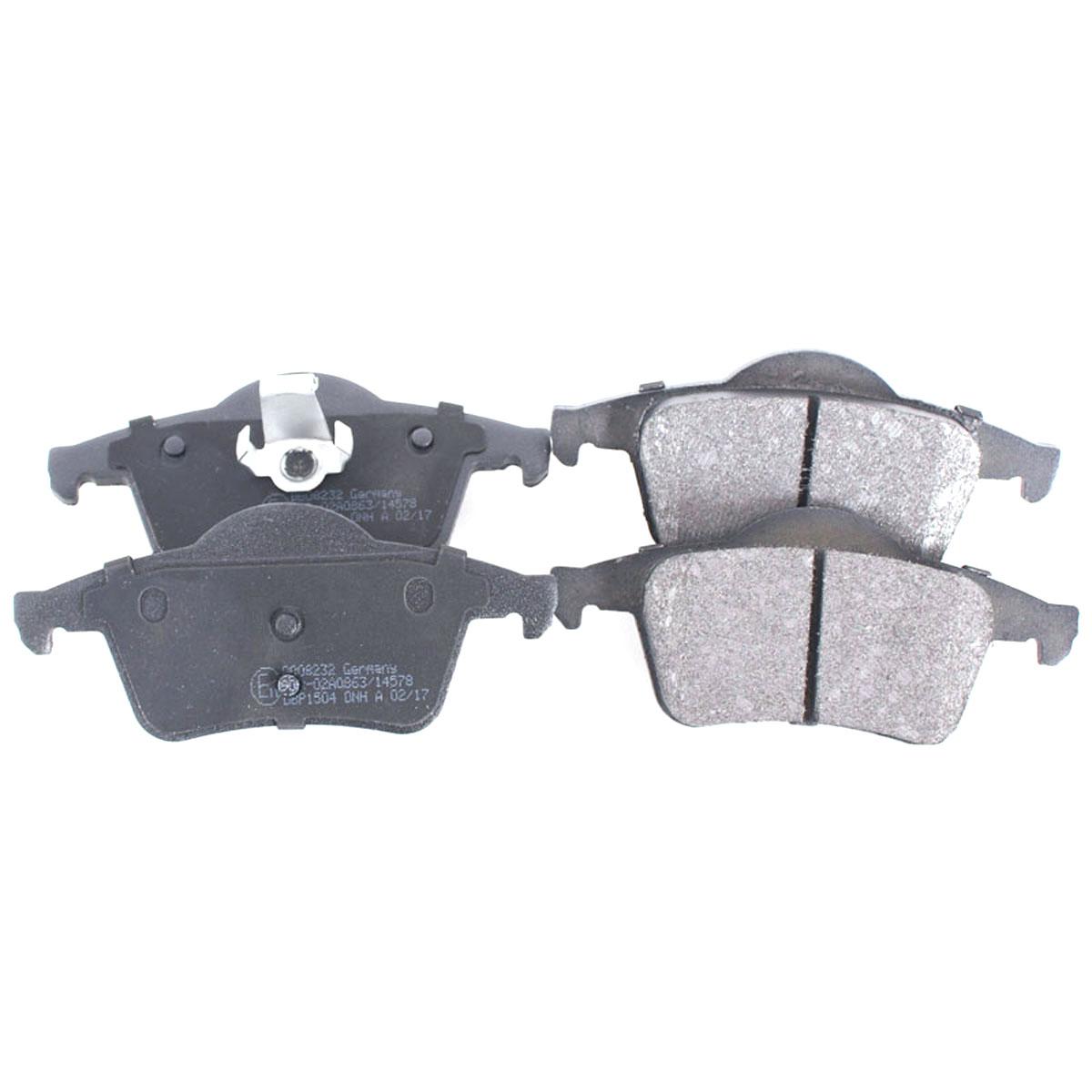 Bremsbelagsatz Scheibenbremse Hinterachse für Volvo S60, S80, V70, XC70, BB08232