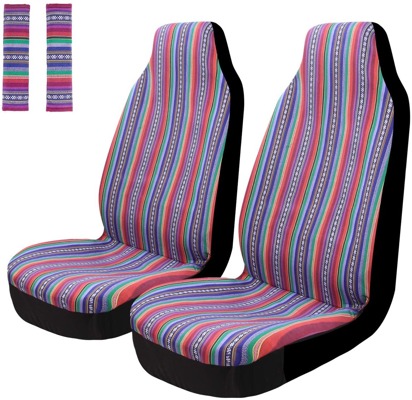 Auto Sitzbezug Universal Set Sitzbezüge Schonbezüge Vordersitze IASC-019F